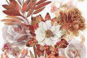 Composicion Savage Flowers Marron 01