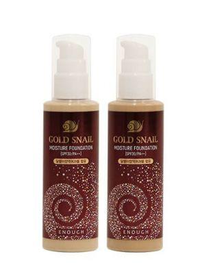 Enough Увлажняющая тональная основа c муцином улитки Gold Snail Moisture Foundation