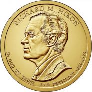 37-й президент США - Ричард Никсон. 1 доллар 2016 года