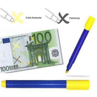 Маркер для проверки денег Banknote tester pen, Синий