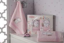 Комплект махровых полотенец для детей BAMBINO-SLON 50*70+70*120 Арт.3095-5