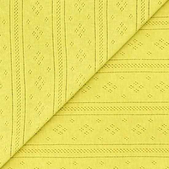 Лоскут трикотажной ткани Ажурный Горчичный 50*30