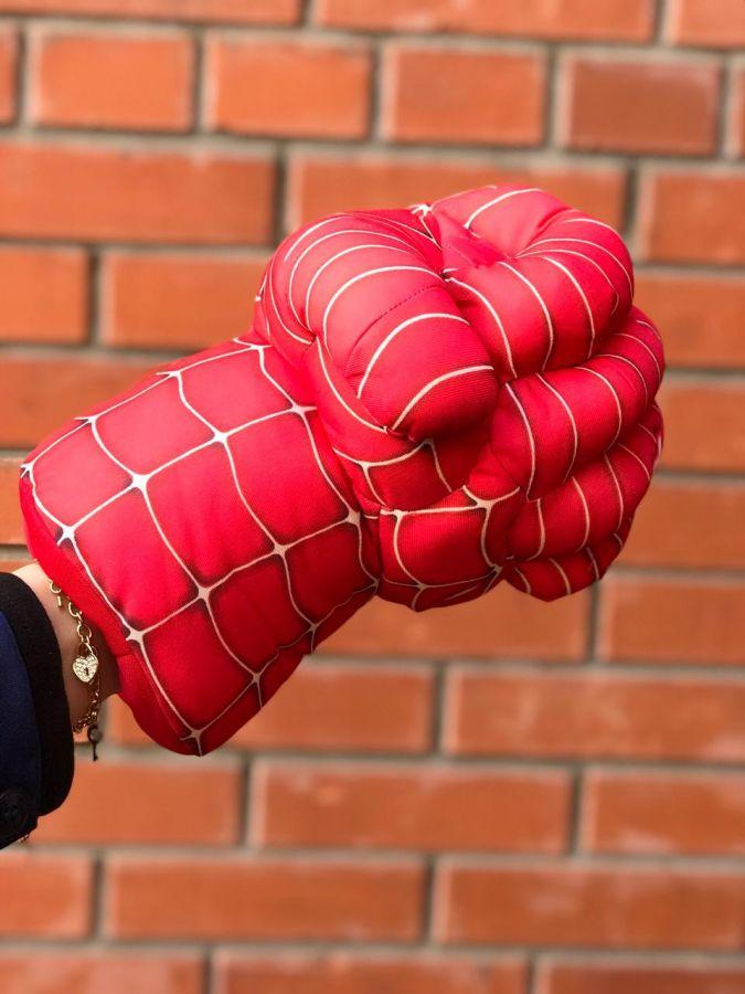 """Перчатки мягкие большие на руку """"Человек паук"""""""
