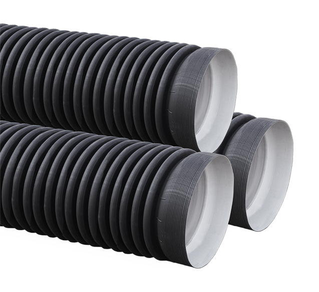 Труба ПНД гофрированная двухслойная с раструбом SN8 - SN9 110/94