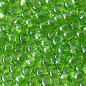Бисер чешский 56430 прозрачный зеленый блестящий Preciosa 1 сорт