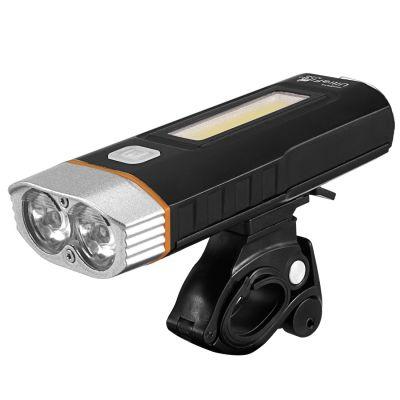 Велофара UltraFire HJ-048, 800 Лм (встроенное ЗУ, power bank, боковой свет)