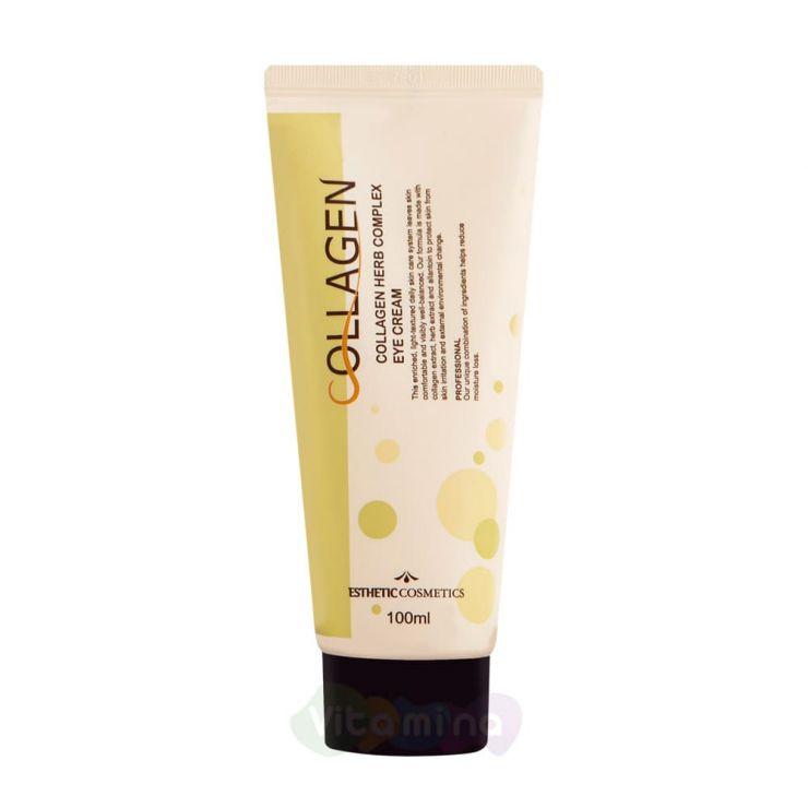 Esthetic House Крем для кожи вокруг глаз с коллагеном и растительным комплексом Collagen Herb Complex Eye Cream, 100 мл