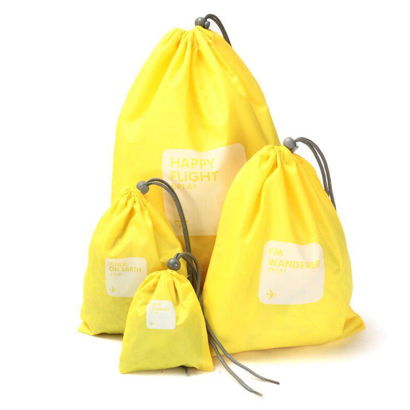 Водонепроницаемые мешочки для одежды Happy Flight Cplay, 4 шт, цвет жёлтый