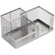 Поставка настольная Berlingo Steel&Style 3 секции металл серебристый BMs_41301