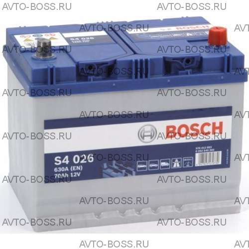 Автомобильный аккумулятор 0092S40260 BOSCH (S4 026) 70 a/h обр 570412063 D26 70 Ач