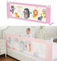 Защитный барьер для кровати, цвет розовый (1)