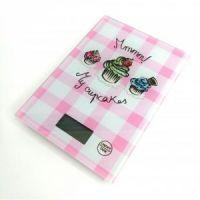 Кухонные весы Touch Screen Kitchen Scale LBS-6032, цвет розовый (2)