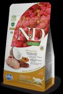 Farmina N&D Cat Quinoa Skin&coat Quail Перепел, киноа, кокос и куркума 300г