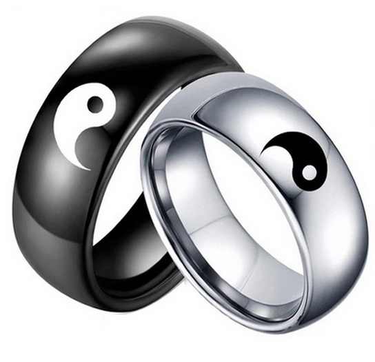 Парные кольца Инь Ян