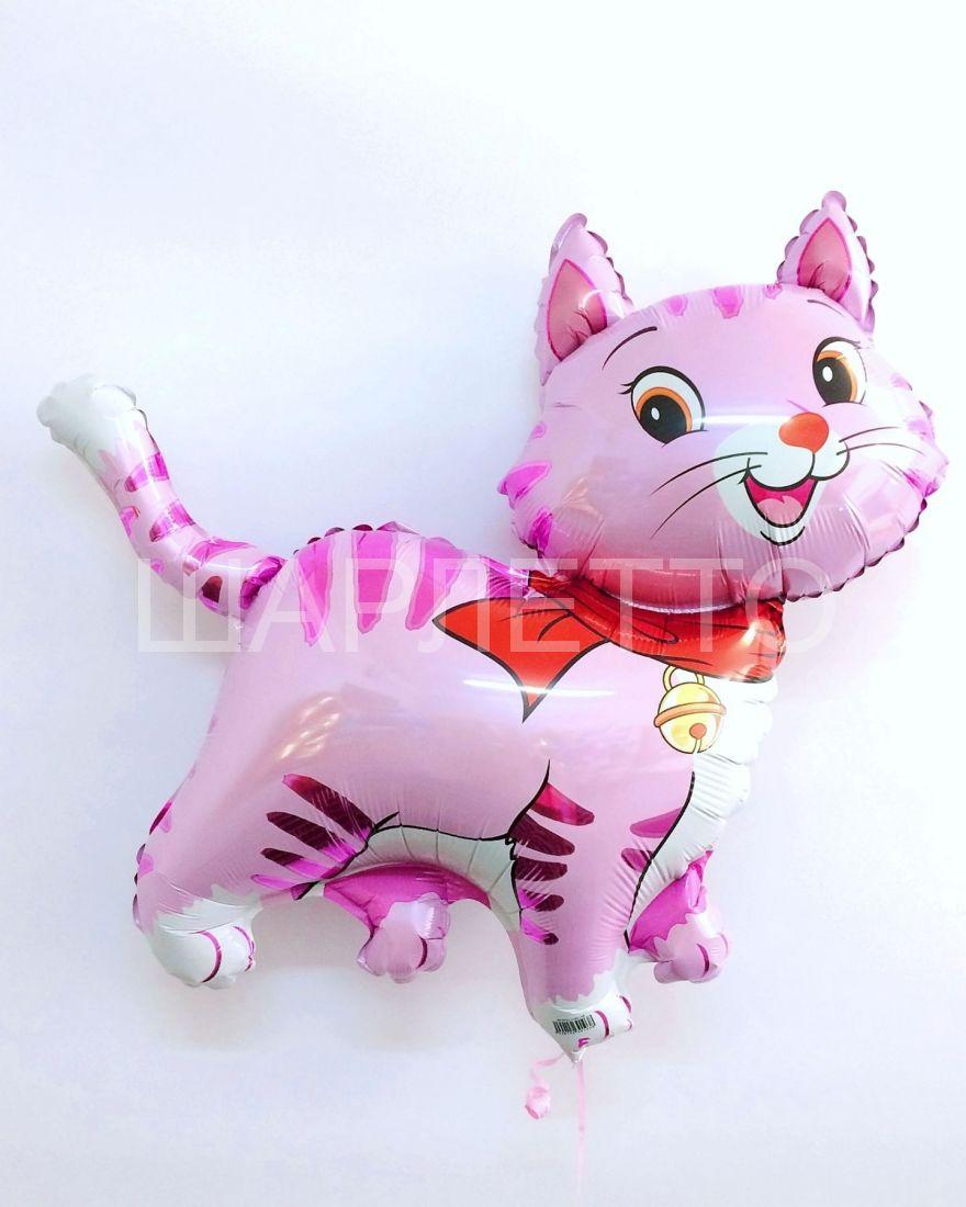 Кошечка с шарфом розова
