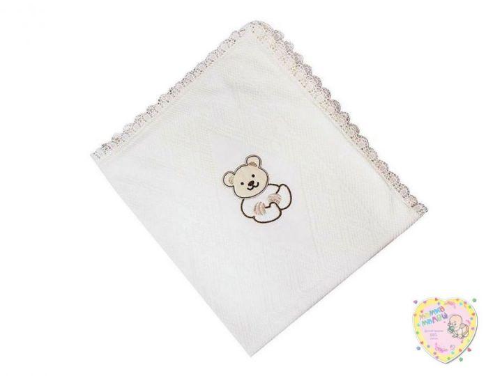 Одеяло на выписку вязаное молочное V-OD600(mx)-TR (80х100)