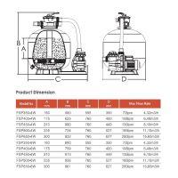 Фильтрационная установка Aquaviva FSP350 (4.32 м3/ч, D350)