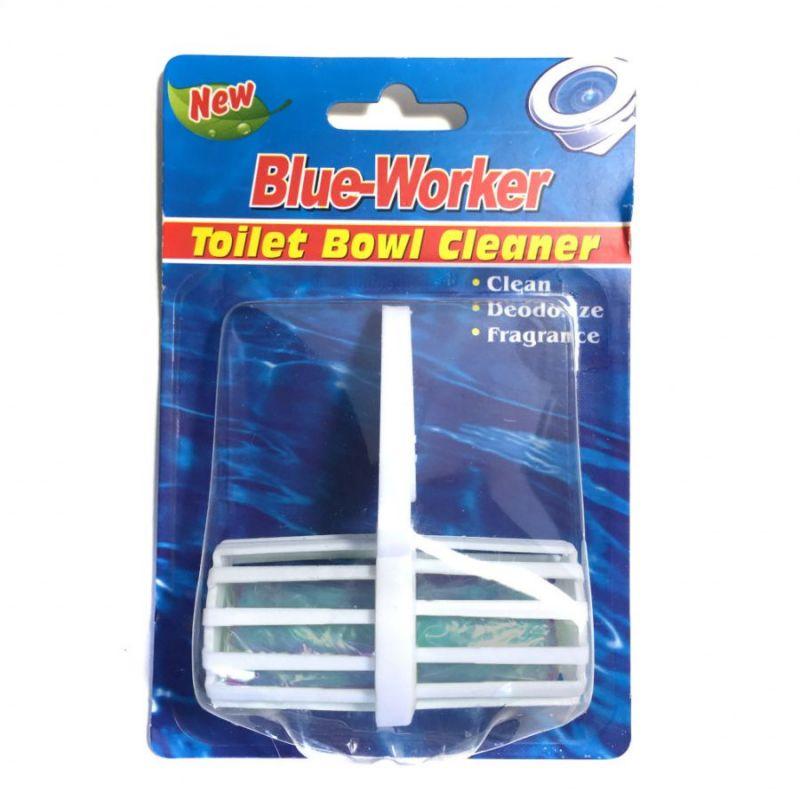 Гигиенический блок для унитаза Blue Worker, 1 шт, цвет синий
