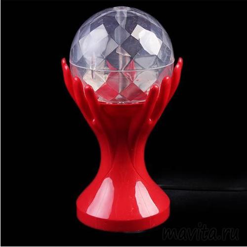 Декоративный LED-светильник Шар В Руках, Цвет Красный