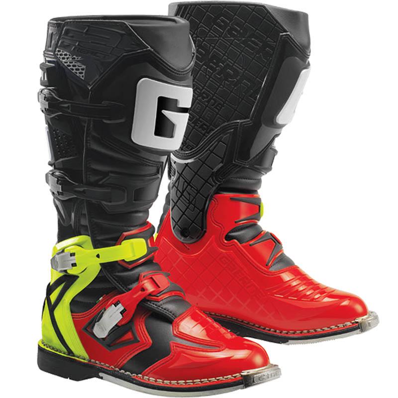 Gaerne - G-React Goodyear мотоботы, красно-жёлто-черные