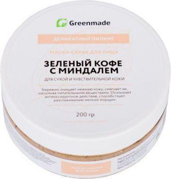 ГринМейд - Маска-скраб для лица Зеленый Кофе с Миндалем для сухой и чувствительной кожи