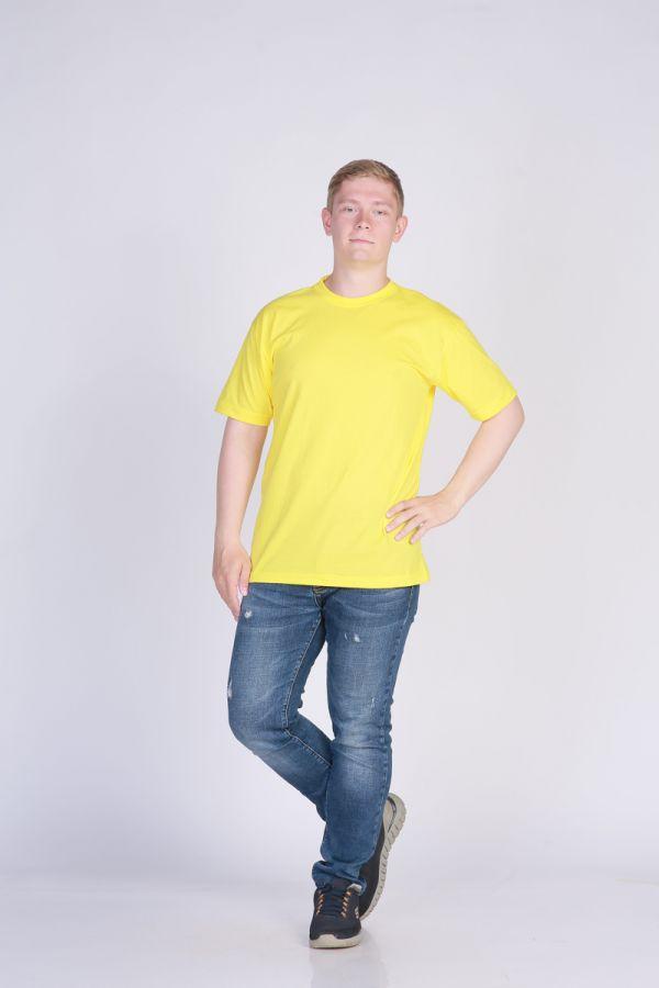 Футболка мужская без принта Желтая