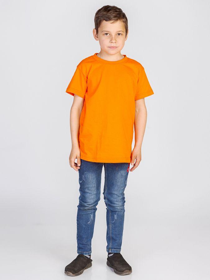 футболка детская без принта Оранжевая