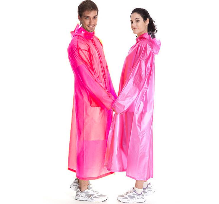 Виниловый плащ-дождевик для взрослых, цвет розовый