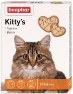 Beaphar Kitty's + Taurin-Biotin Кормовая добавка для кошек с биотином и таурином (75 табл.)