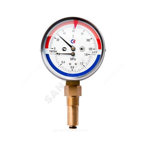 """Термоманометр ТМТБ-31Р.1 радиальный Дк80 1,6МПа L=46мм G1/2"""" 120С Росма"""