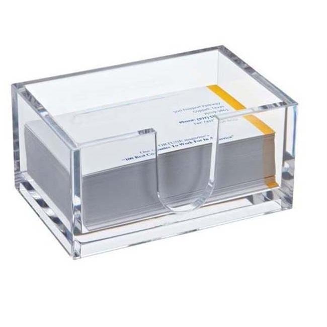 Настольный акриловый держатель визиток Card Case, цвет прозрачный