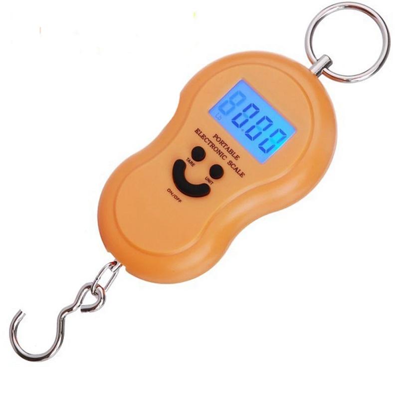 Электронный Безмен С Металлическим Кольцом Portable, 50 Кг, Цвет Оранжевый