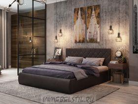 Кровать Ника из экокожи