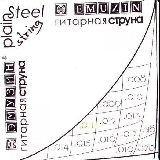EMUZIN 013с Струна без обмотки диаметром .013/сталь/