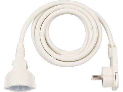 Удлинитель с угловой плоской вилкой Brennenstuhl 3 метра; кабель H05VV-F3G1.5; белый, 1 розетка (1168980230)