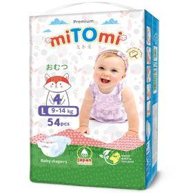 Подгузники miTomi Premium L54 (9-14кг)