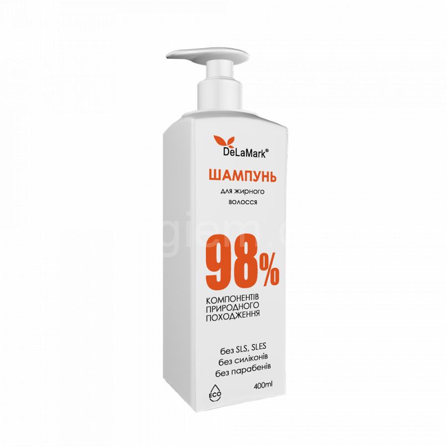 Шампунь DeLaMark для жирных волос, 400мл
