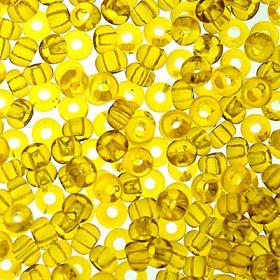 Бисер чешский 80010 желтый прозрачный Preciosa 1 сорт