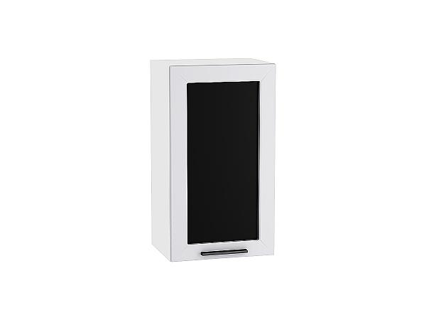 Шкаф верхний Глетчер В400 со стеклом (Гейнсборо Силк)