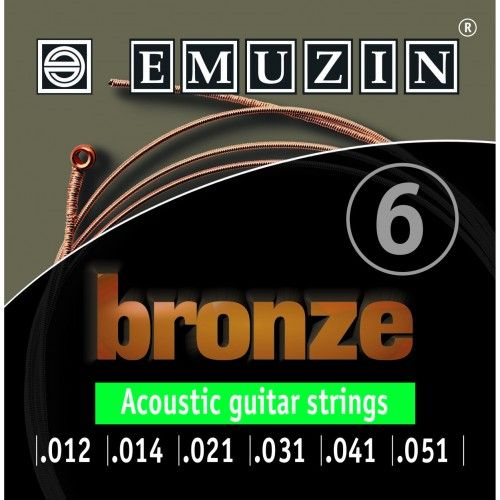 EMUZIN 6А154 (12-51) Струны для акустической гитары