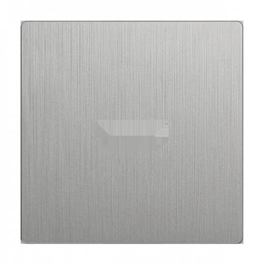 Накладка для розетки HDMI WL09-HDMI-CP серебряный рифленый