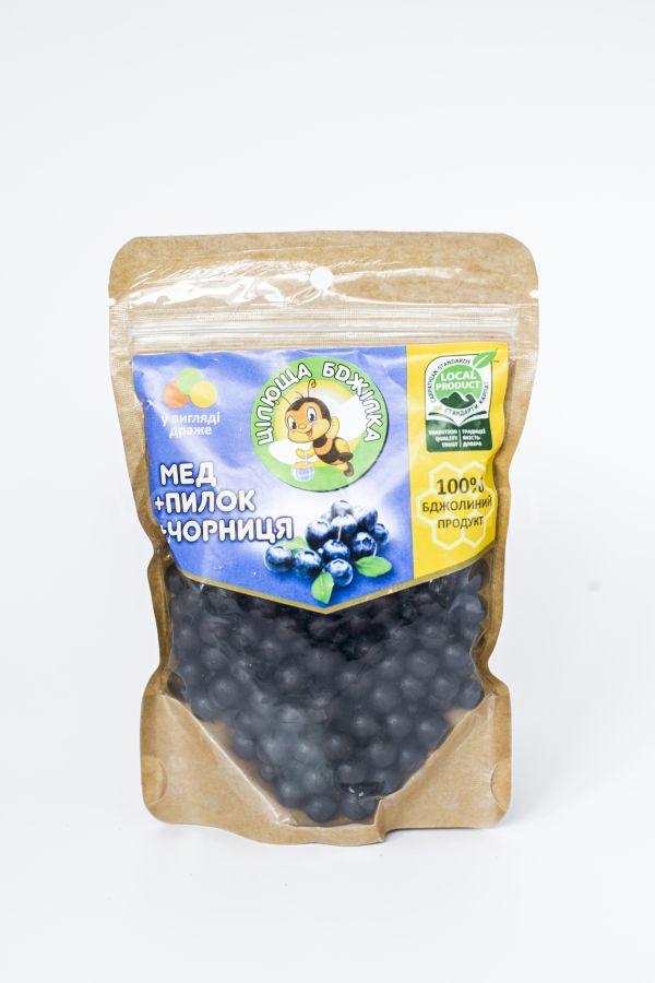 Конфеты «Целительная пчелка» (мед, пыльца, черника) 150г - 57грн