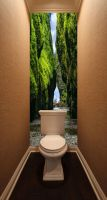Фотообои в туалет - Впереди водопад магазин Интерьерные наклейки