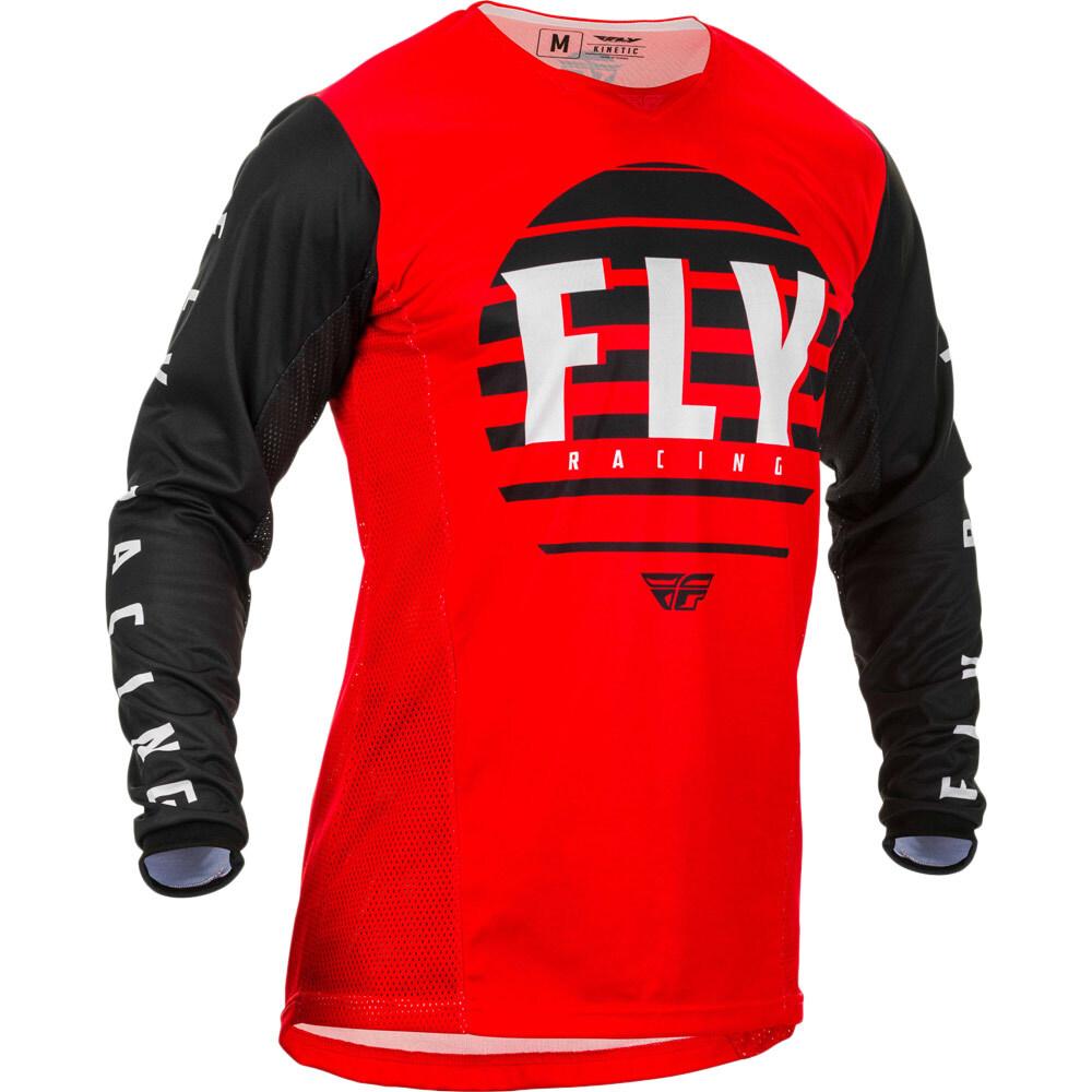 Fly - 2020 Kinetic K220 Red/Black/White джерси, красно-черно-белое