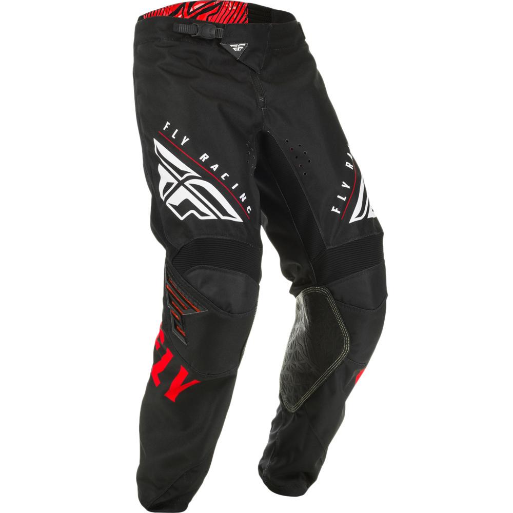 Fly - 2020 Kinetic K220 Red/Black/White штаны, красно-черно-белые