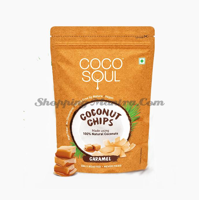 Кокосовые чипсы Карамель Коко Соул | Coco Soul Coconut Chips Caramel