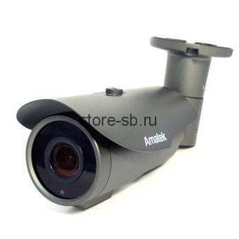 AC-IS506ZA v2 (мото, 2,7-13,5) Amatek Уличная цилиндрическая IP камера, объектив 2.7-13.5 mm, ИК, POE, 5Мп, 1 аудиовход, выход для питания микрофона