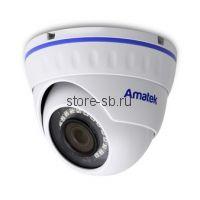 AC-IDV202AS (2.8) Amatek Купольная антивандальная IP видеокамера, объектив 2.8мм, 2Мп, Ик, POE, встроенный микрофон
