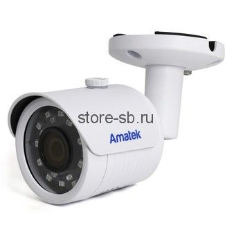 AC?IS503A (2,8) Amatek Уличная цилиндрическая IP видеокамера, 5Mp, Ик, POE, Слот для SD карты, 1 аудиовход, выход питания микрофона