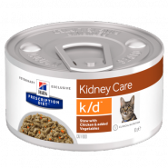 Hill's PD Feline k/d Renal Health Диетический корм при почечной недостаточности (рагу), 82 гр